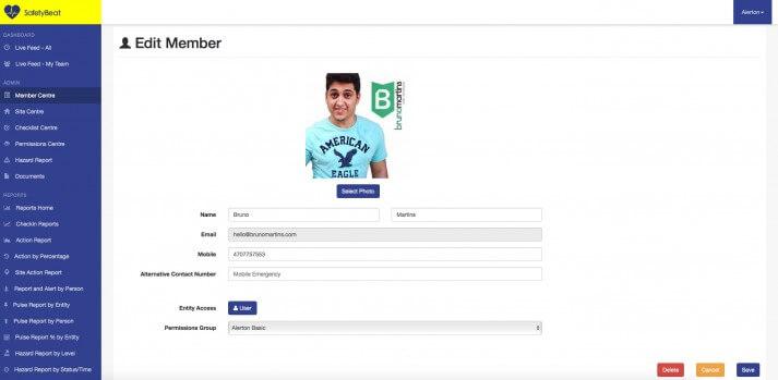 Edit Member Page